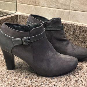 Charcoal suede booties